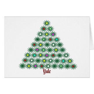 Yule - árbol de Sun Tarjeta De Felicitación