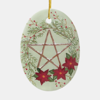 Yule Blessing Ceramic Ornament
