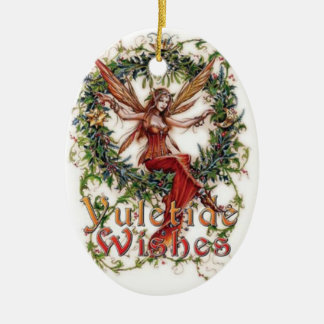 Yule Blessings: Hanging Decpration Ceramic Ornament