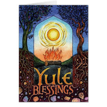 Yule Blessings Pagan Greeting Card