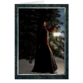 Yule by winters light card