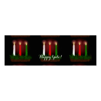 Yule Candles Winter Solstice Gift Labels Gift Tags Business Card Template