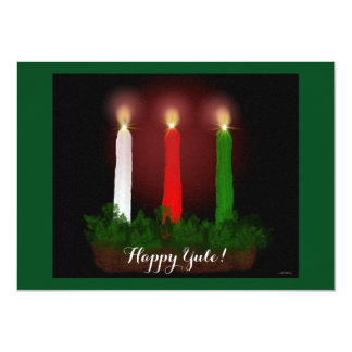 Yule Candles Winter Solstice Witch Wiccan Pagan Card