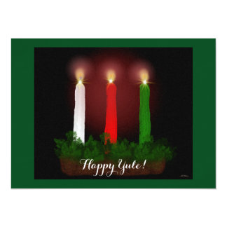 Yule Candles Winter Solstice Witch Wiccan Pagan 5.5x7.5 Paper Invitation Card