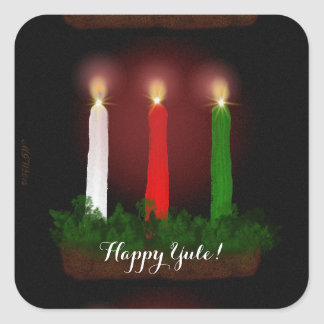 Yule Candles Winter Solstice Witch Wiccan Pagan Stickers