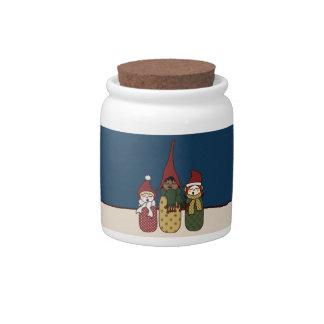 Yule Chorus, candy jars