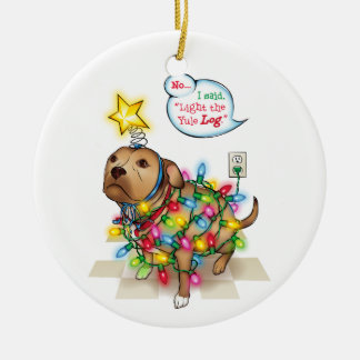 Yule Dog Ornament