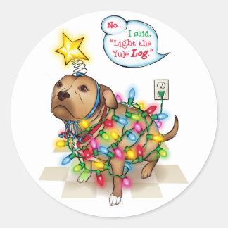 Yule Dog Sticker