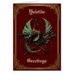 Yule Dragon Card