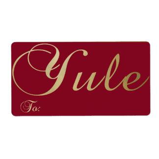 Yule - etiqueta #1 del regalo etiquetas de envío
