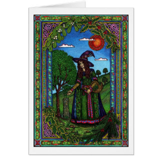 Yule, evergreen two greeting cards