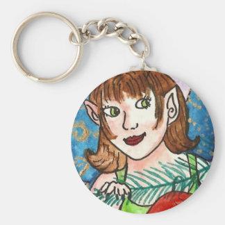 yule fairy keychain