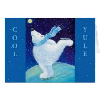 Yule fresco - navidad tarjeta de felicitación