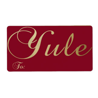 Yule - Gift Tag #1 Label