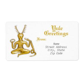 Yule Greetings - Shipping Label #3