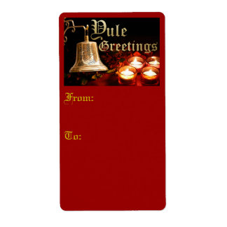 Yule Greetings - Shipping Label & Gift Tag #1