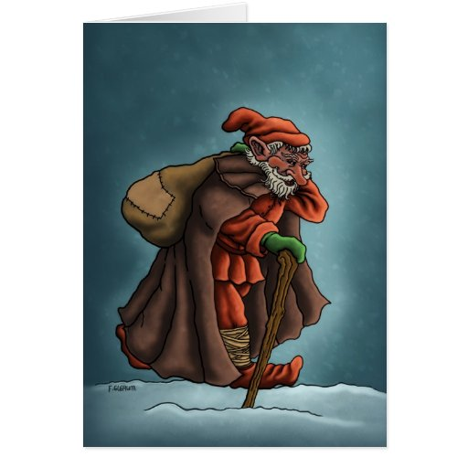 yule lad holiday note card