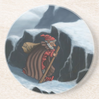 yule lad mountains drink coaster