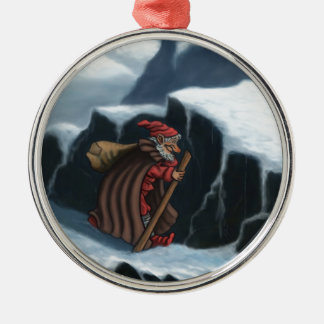 yule lad mountains metal ornament