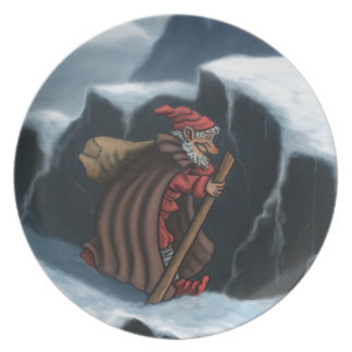 yule lad mountains party plate