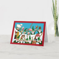 Yule Lads of Iceland, Christmas Pranksters in Snow Card