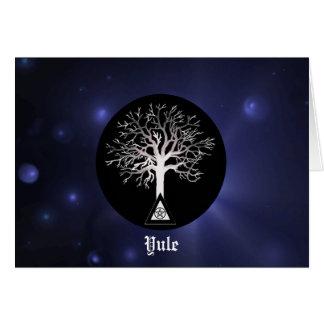 Yule-Let Light Shine On Yule Greeting Card