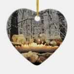 Yule Log Christmas Tree Ornaments