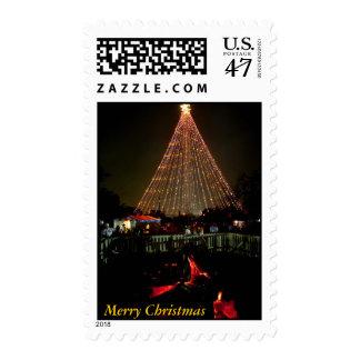 Yule Log, Merry Christmas Postage