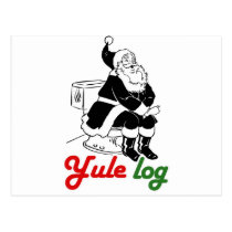 YULE LOG -.png Postcard