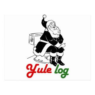 YULE LOG -.png Postcard