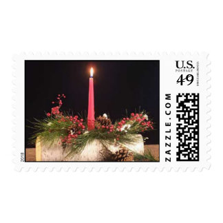 Yule Log with Candle Stamps