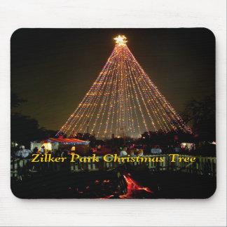Yule Log Zilker Park Christmas Tree Mouse Pad