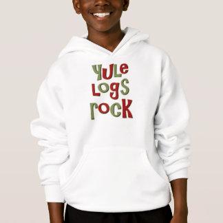 Yule Logs Rock Christmas Design Hoodie