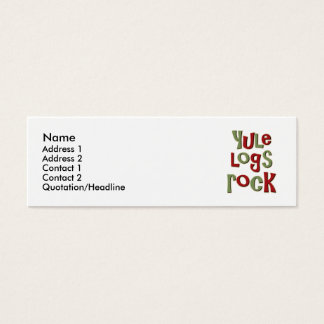 Yule Logs Rock Christmas Design Mini Business Card