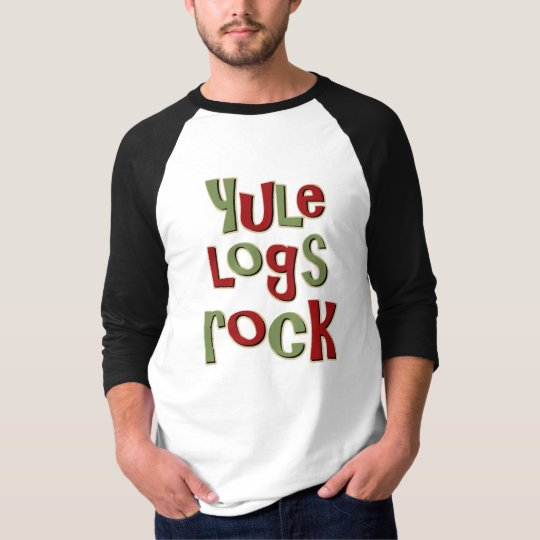 Yule Logs Rock Christmas Design T-Shirt