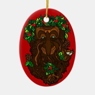 Yule Pagan GreenMan Decoration Christmas Ornament
