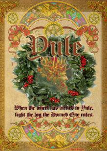 Yule cards zazzle yule pagan greeting card m4hsunfo