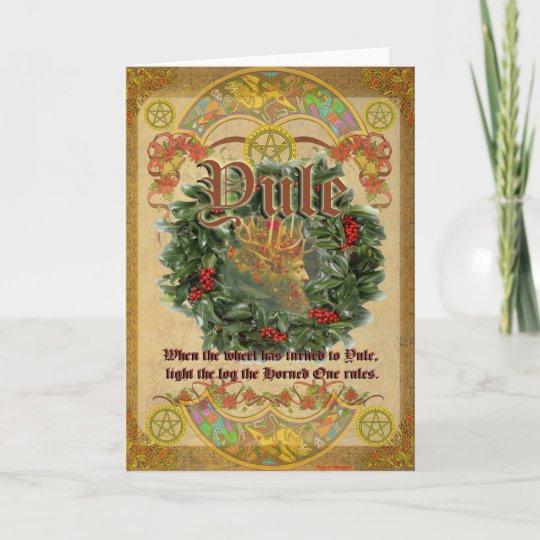 Yule pagan greeting card zazzle yule pagan greeting card m4hsunfo