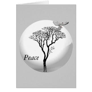 Yule - paz de Yule Tarjeta De Felicitación