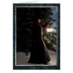 Yule por la luz de los inviernos tarjeta de felicitación