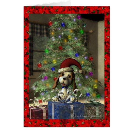 Yule Puppy Greeting Card