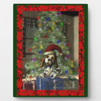 Yule Puppy Plaque