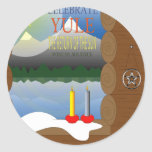 Yule Round Stickers