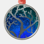 yule silver tree ornament