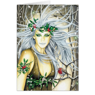 Yule Snow Queen Faerie Cards
