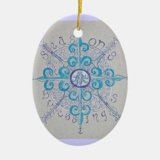 Yule Snowflake Goddess Ornament