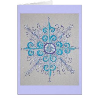 Yule Snowflake Greeting Card