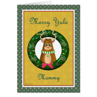 Yule Stag Wreath for Mommy Card