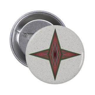 Yule Star 2 Inch Round Button