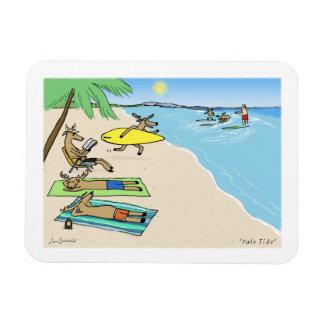 Yule Tide - Santa and Reindeer Beach Vacation Magnet